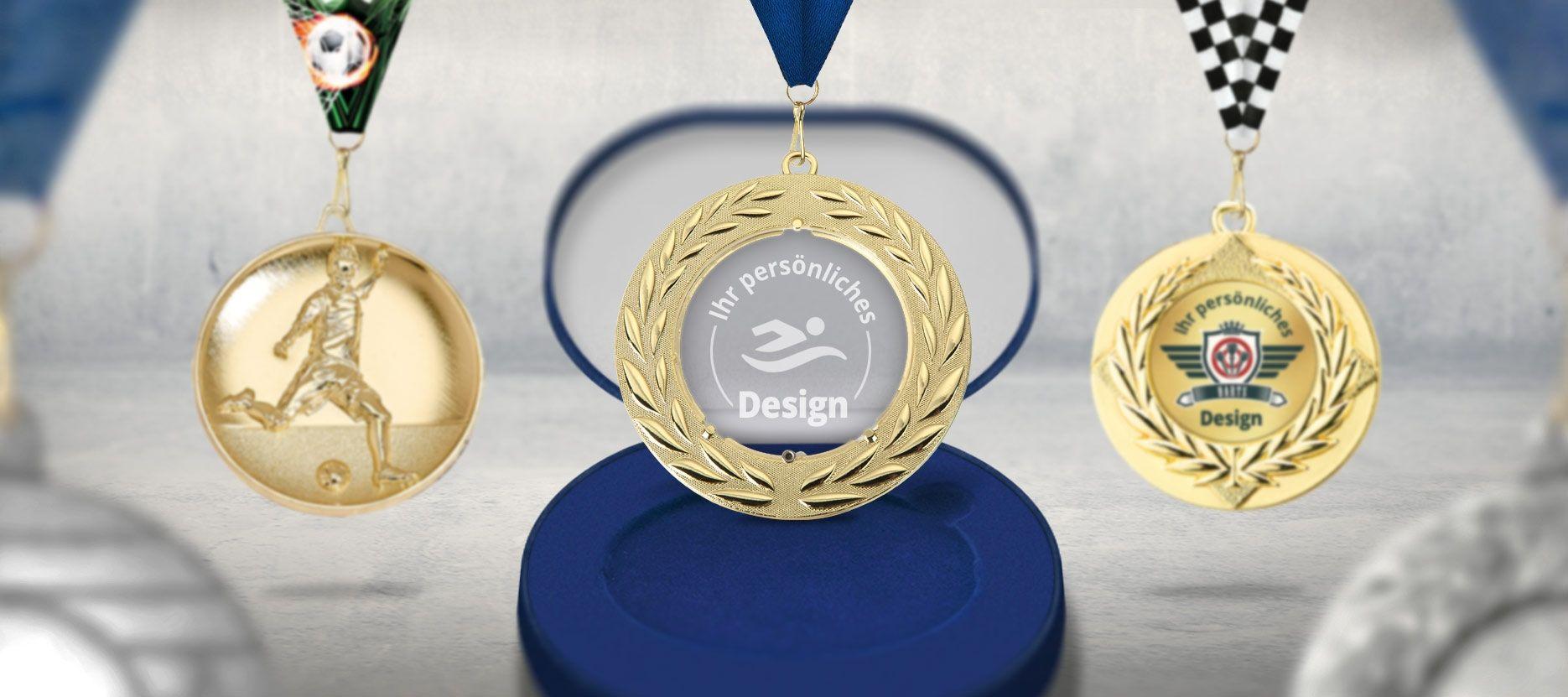 Pokale & Preise Judo Kinder Medaillen 3er Set mit Deutschland-Bändern Pokal Turnier mit Emblem